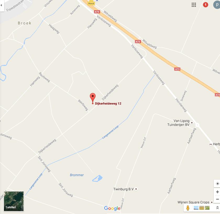 Google Maps (Dijkerheideweg 12 Horst)